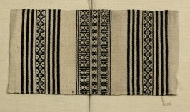 Wool panel (stripes and geometric design in black)