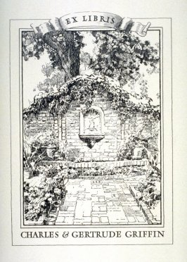 Bookplate for Charles and Gertrude Griffin