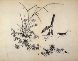 One from the Volume on Birds - from: The Treatise on Calligraphy and Painting of the Ten Bamboo Studio