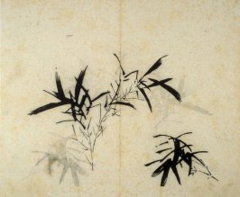 Ink study. Bamboo; two branches, larger on left and smaller on right - No.37 from the Volume on Orchids - from: The Treatise on Calligraphy and Painting of the Ten Bamboo Studio