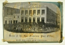 Scene at the San Francisco Post Office showing how we Get Our Letters