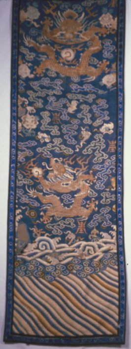 Panel: from a silk tapestry (kesi) dragon robe