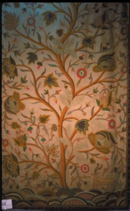 Embroidered bed panel fragment