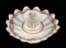Small dish with attached center cup