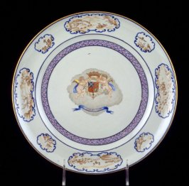 Dinner plate with arms of Araujo de Azevedo