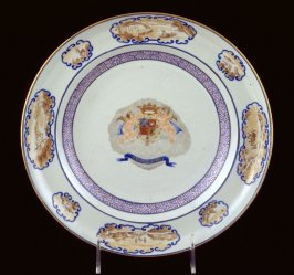 Soup plate  with arms of Araujo de Azevedo