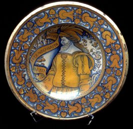 Plate with bearded man