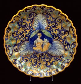 Footed plate (reproduction)
