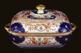 Vegetable dish with cover, with crest of Sir Joseph Williamson