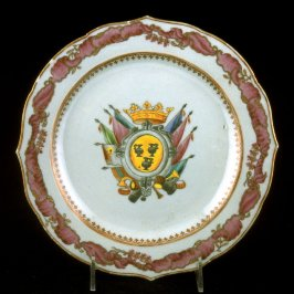 Dinner plate with Arms of Pignatelli