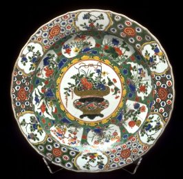 Plate with stand
