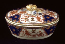 Covered dish, with crest of Sir Joseph Williamson