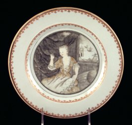 "Plate, ""The Seamstress"""