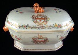 Tureen with cover and stand with arms of Gamon