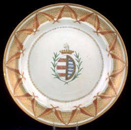 Soup plate, Arms of Silveira impaling Tavora