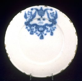 Plate, initialed and dated