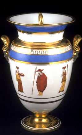 Side handle urn with cover and liner