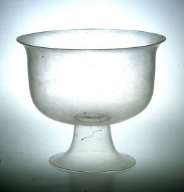 Clear glass compote
