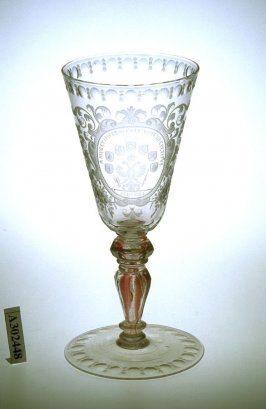 Goblet engraved with Arms of the Holy Roman Empire