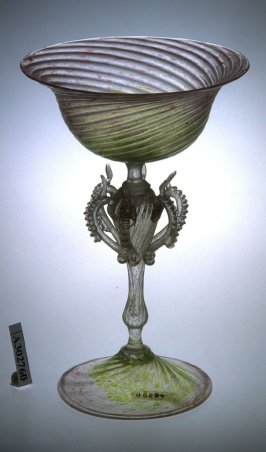 Goblet with six loops on stem