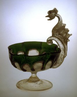 Compote with Griffin Handle