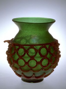 Vase - green with red rings