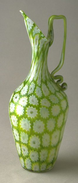 Green and white ewer