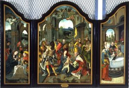 1) The Adoration of the Magi 2) The Adoration of the Sheperds (leftwing) 3) The Circumcision (right wing)