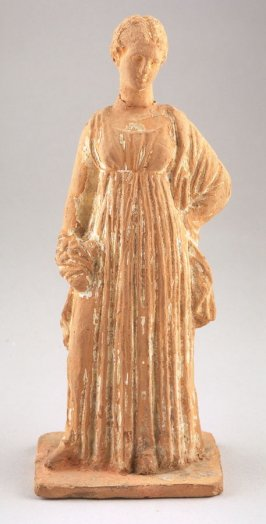 Tanagra figure - standing woman with full length skirt