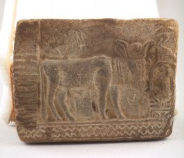 Plaque with Apis (bull)