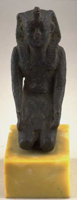 Statuette of kneeling king with the Uraeus headdress