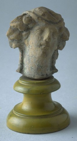 Tanagra figure - head of Dionysos