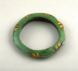 Bracelet green, with yellow and orange details