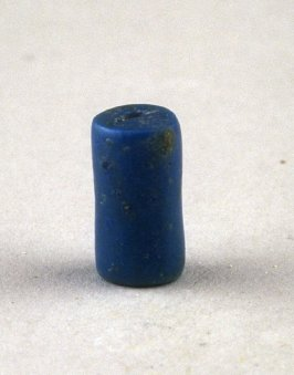 Blue cylindrical bead