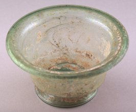 Footed bowl with wide lip