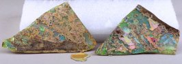 Two glass fragments