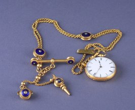 Watch and Chain with Charms