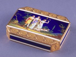Octagonal snuffbox with scene of Diana, goddess of the hunt