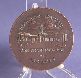 French Republic bronze medal from Panama Pacific International Exposition, French Pavillion