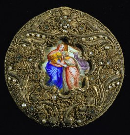 Pendant with miniature of St. Agnes