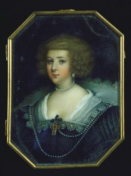 Portrait of a lady wearing a black dress with a white ruff