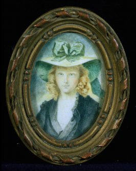 Miniature oval portrait of Princess Marie Hoppner
