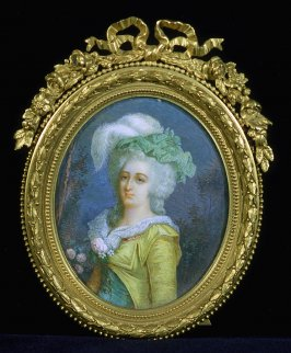Miniature of a French woman
