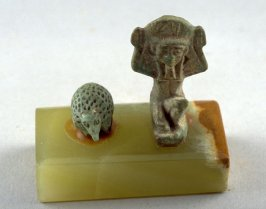 Hedgehog amulet (double mounted with 1925.73a)