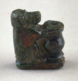 Statuette of hippopotamus goddess with an offering