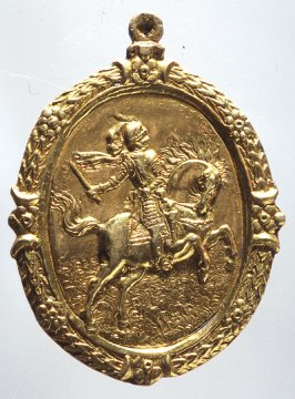 Medal: knight on horseback