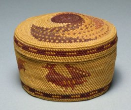 Lidded trinket basket