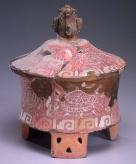 Cylinder tripod vessel with Teotihuacan influence