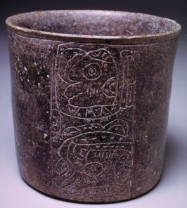 Pot with incised glyphs