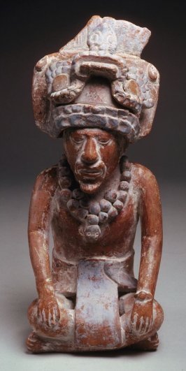 Figure with large turban - whistle
